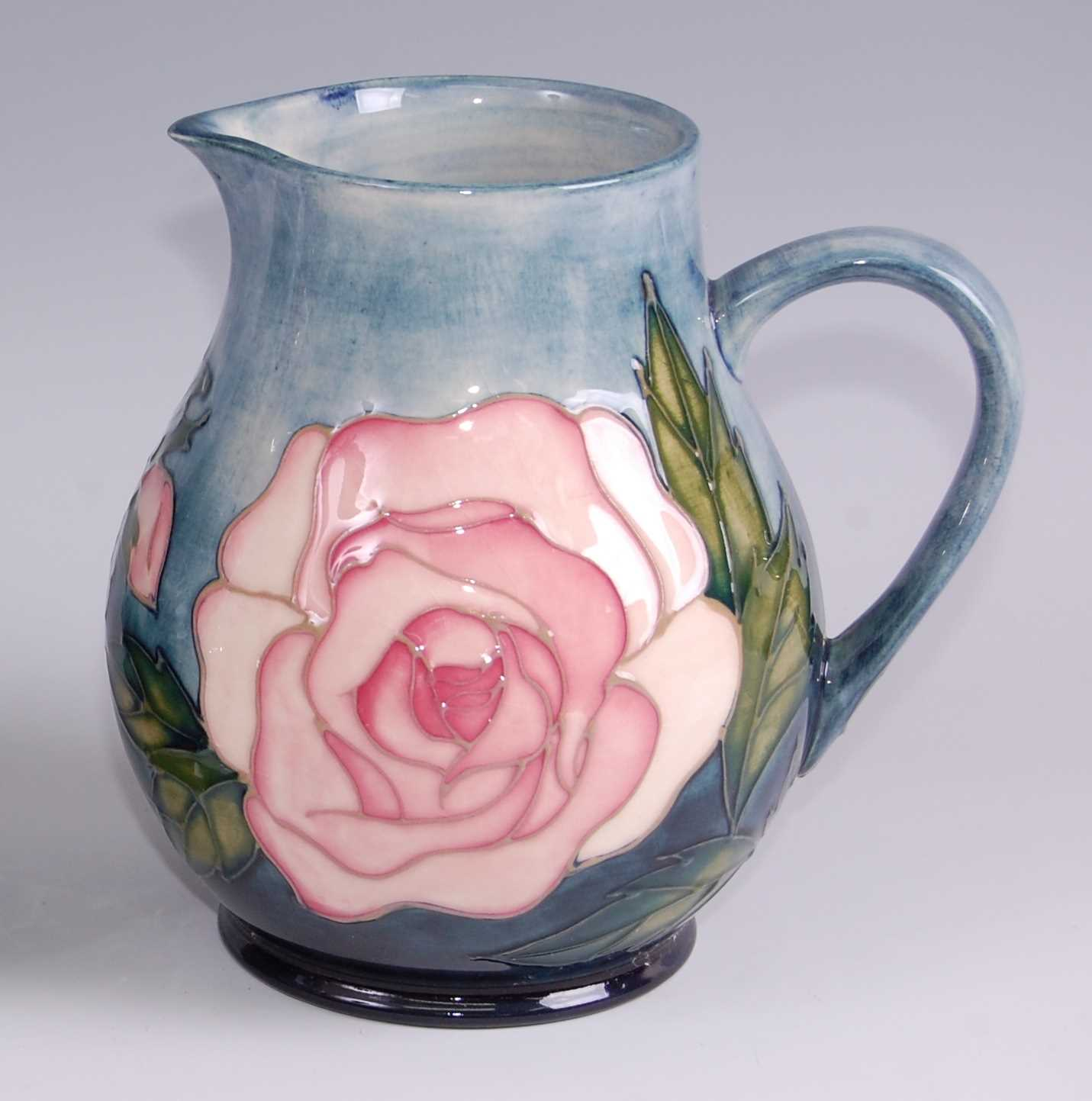 Lot 14-A contemporary Moorcroft pottery jug in the Pink...