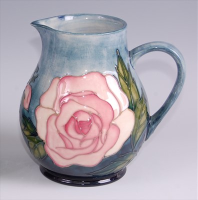 Lot 14-A contemporary Moorcroft pottery jug in the...