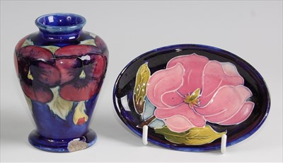 Lot 16-A Moorcroft pottery miniature shouldered...