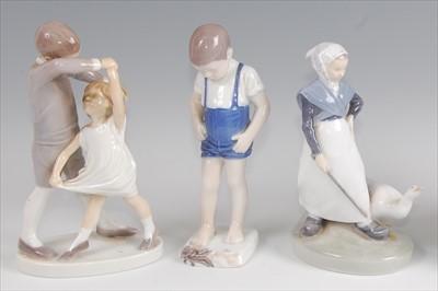 Lot 30 - A Bing & Grondahl porcelain model of a dancing...