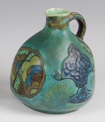Lot 31-Clews & Co - a 1930s Chameleon-ware pottery...