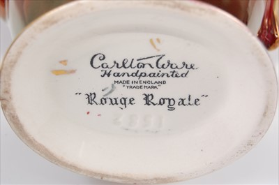 Lot 34-A 1930s Carltonware Rouge Royale ceramic...