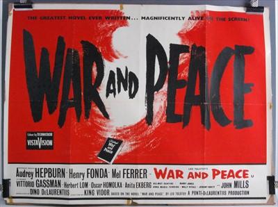 Lot 537-War & Peace, 1956 UK quad poster