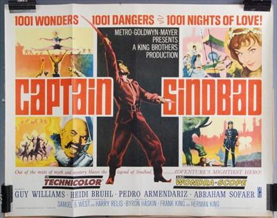Lot 536-Captain Sinbad, 1963 US half sheet poster