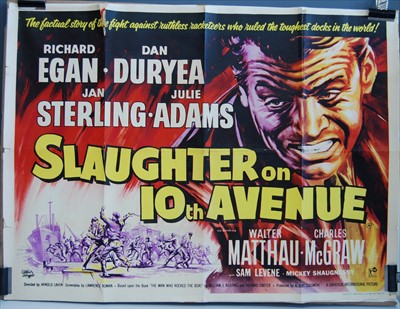 Lot 534-Slaughter on 10th Avenue, 1957 UK quad poster