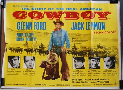 Lot 530-The Story of the Real American Cowboy, 1958 UK quad poster
