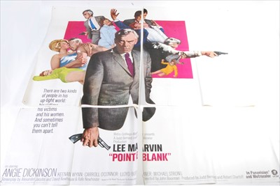 Lot 529-Point Blank, 1967 six sheet poster