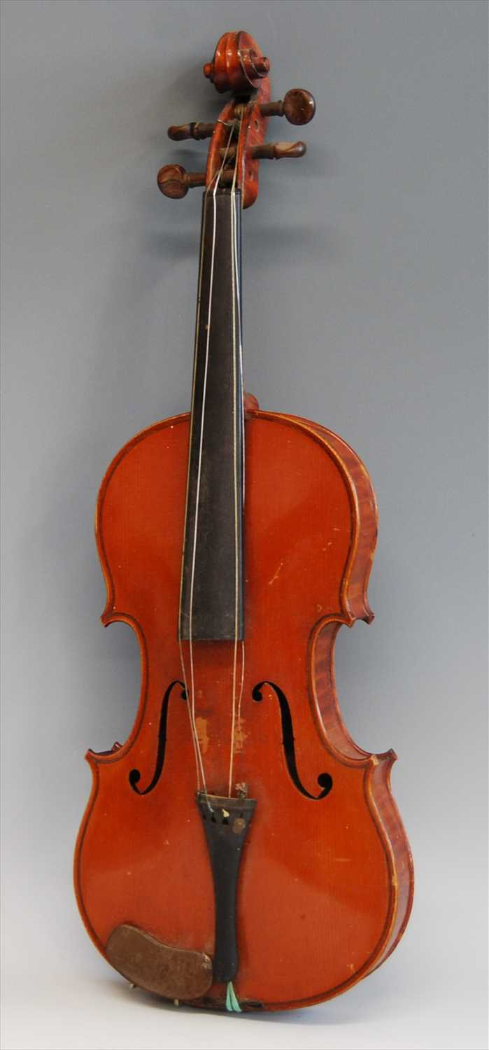 501 - A late 19th century French violin,