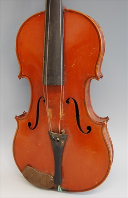 Lot 501-A late 19th century French violin
