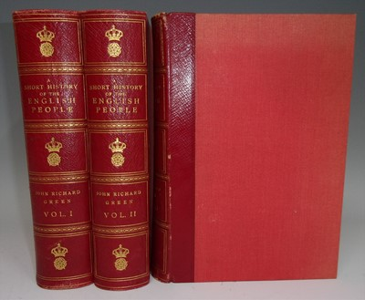 Lot 1017-GREEN, J.R. A Short History of the English People ...