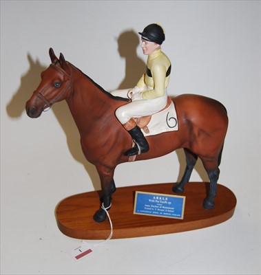 Lot 1-A Beswick Connoisseur model of the racehorse...