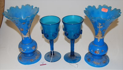 Lot 3-A pair of late 19th century continental blue...