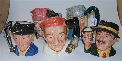 Lot 4-A collection of seven Royal Doulton character...