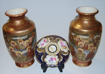 Lot 6-A pair of Japanese late Meiji period vases, of...