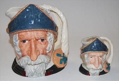 Lot 24-A pair of graduated Royal Doulton character jugs...