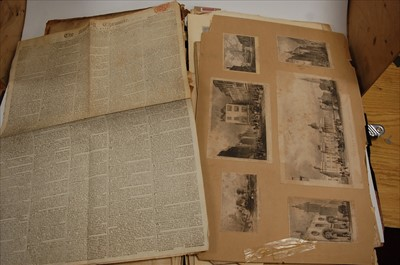 Lot 73 - A large 19th century leather bound scrap album...