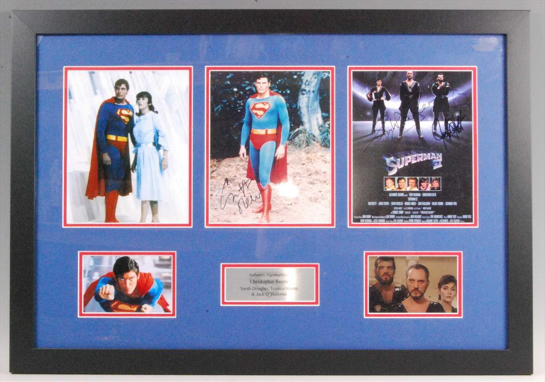 Lot 517-Superman, a rare autograph presentation