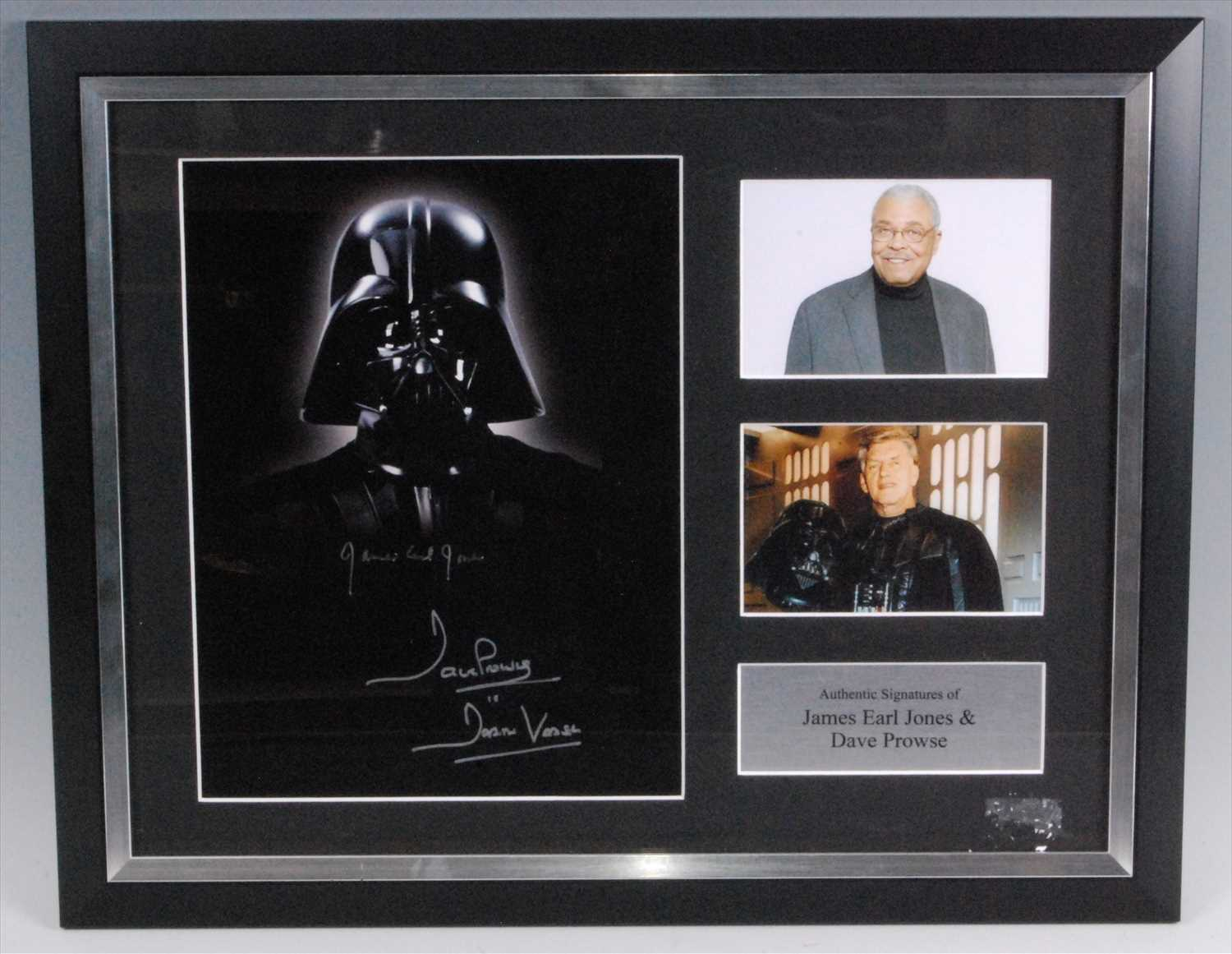 Lot 521-Star Wars, a 31 x 23cm colour photograph of Darth Vader