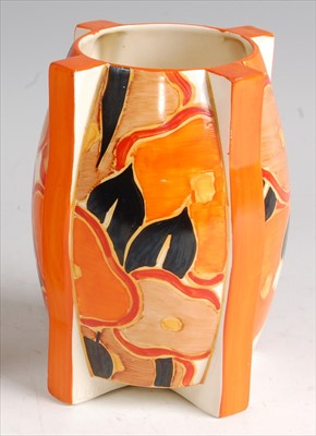 Lot 40 - A 1930s Clarice Cliff pottery 'rocket' vase,...