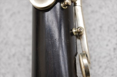 Lot 508-A pair of Boosey & Co Ltd rosewood two piece clarinets