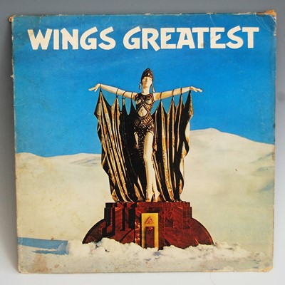 Lot 28-Wings 'Greatest' vinyl record 1978 black label,...