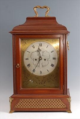 Lot A 19th century mahogany cased bracket clock,...