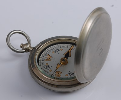 Lot 57-A WW I Dennison Mk VI nickel cased pocket compass