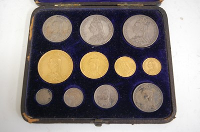 Lot 522 - Great Britain, 1887 eleven coin specimen coin set