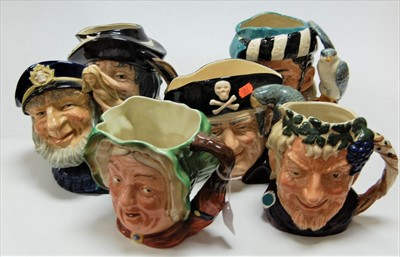 Lot 17-A collection of five Royal Doulton character jugs ...