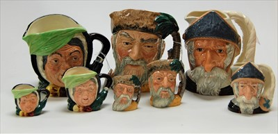Lot 22-A collection of Royal Doulton character jugs to...