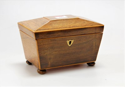 Lot 23-An early Victorian rosewood and boxwood strung...