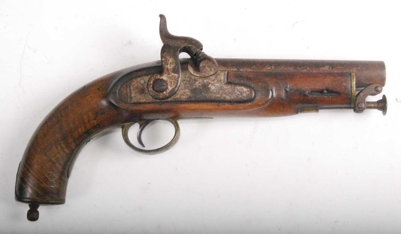 Lot 11 - A Victorian Coast Guard's percussion belt pistol