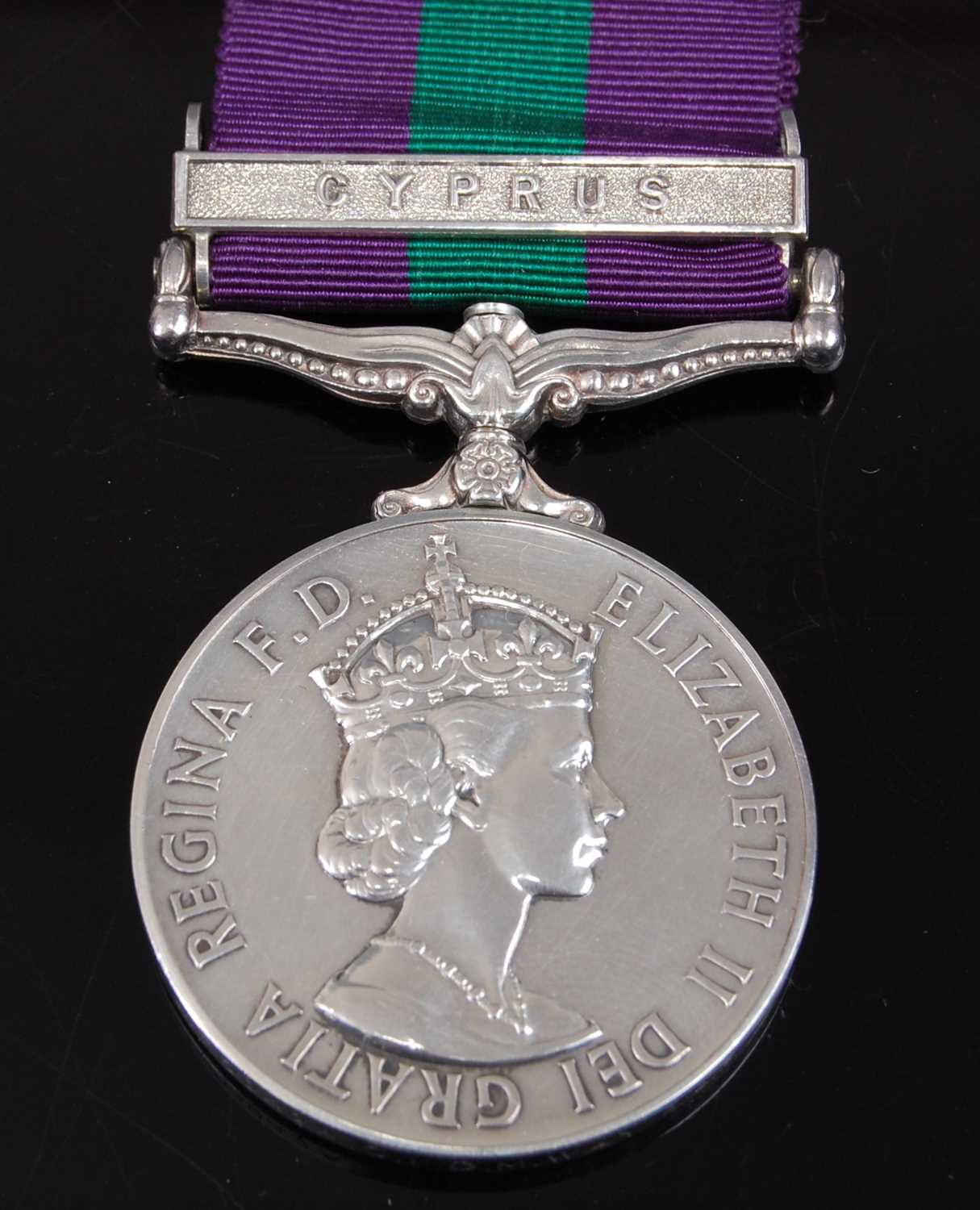 Lot 7 - An E.R. II General Service medal