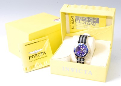 Lot 2011-A gent's Invicta steel cased automatic wristwatch,...