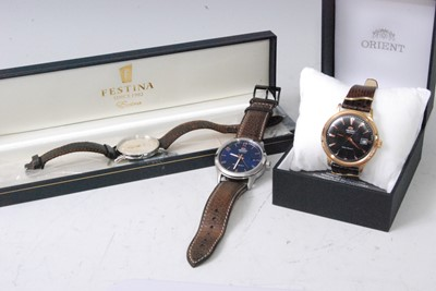 Lot 2015-A gent's Festina steel cased quartz dress watch,...