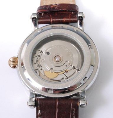 Lot 2016-A Grovana gent's steel and gilt plated automatic...