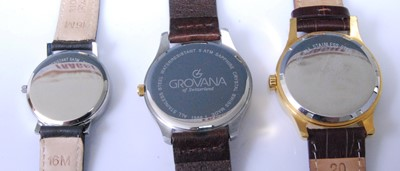 Lot 2017-A gent's Grovana steel and gold plated quartz...