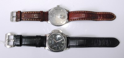 Lot 2019-A gent's Parnis steel cased automatic wristwatch, ...