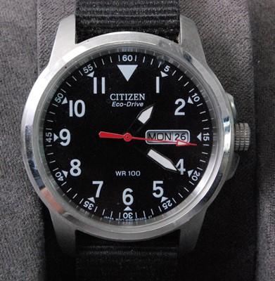 Lot 2023-A gent's Citizen Eco-drive steel cased quartz...