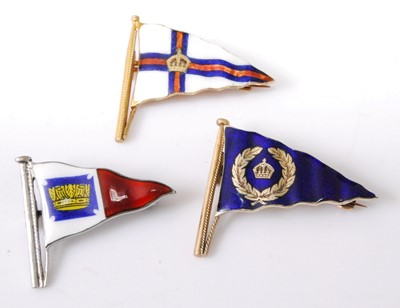 Lot 2040-A 9ct gold and polychrome enamel nautical pennant ...