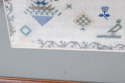 Lot 1294-A William IV needlework alphabet, verse and...