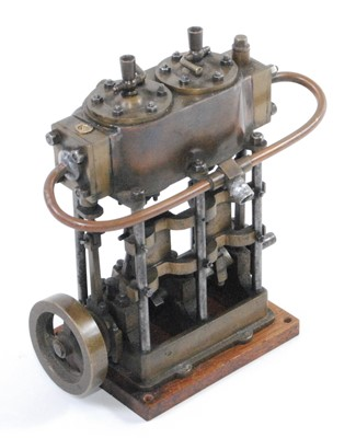 Lot 5-A very well-engineered stationary twin cylinder...