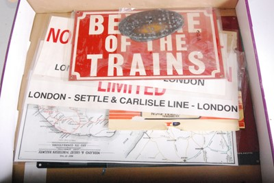 Lot 10-A collection of various reproduction railway...