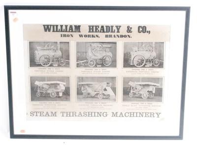 Lot 13-A William Headley & Co Ironworks of Brandon steam ...