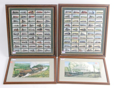 Lot 21-A collection of railway pictures and prints, to...