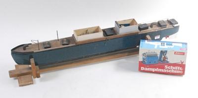 Lot 23-A home-made scratch built wooden model of a...