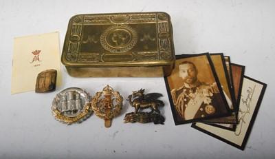 Lot 8 - A WW I Princess Mary Christmas gift tin