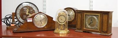 Lot 2 - A Schatz lacquered brass miniature eight day...