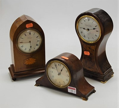 Lot 13-An Edwardian mahogany and inlaid Gothic...