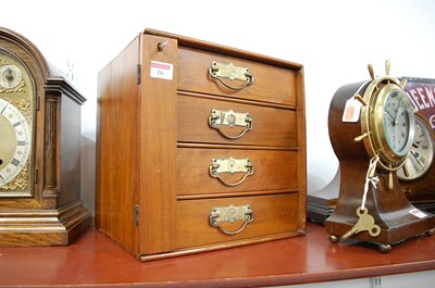 Lot 16-A late Victorian walnut flight of four collectors ...